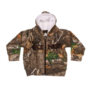 Infant Toddler Sherpa Zip Hoodie Navy | King's Camo