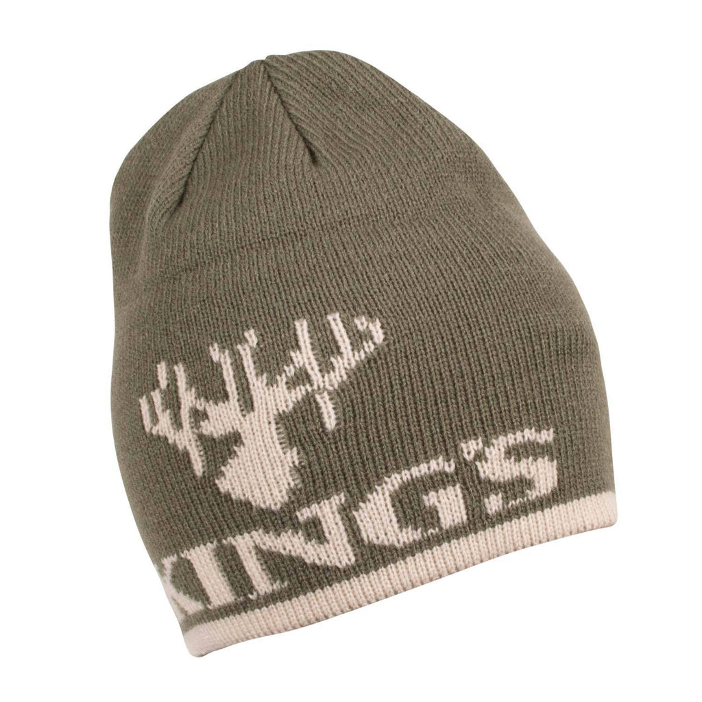 King's Logo Knit Beanie Olive | King's Camo