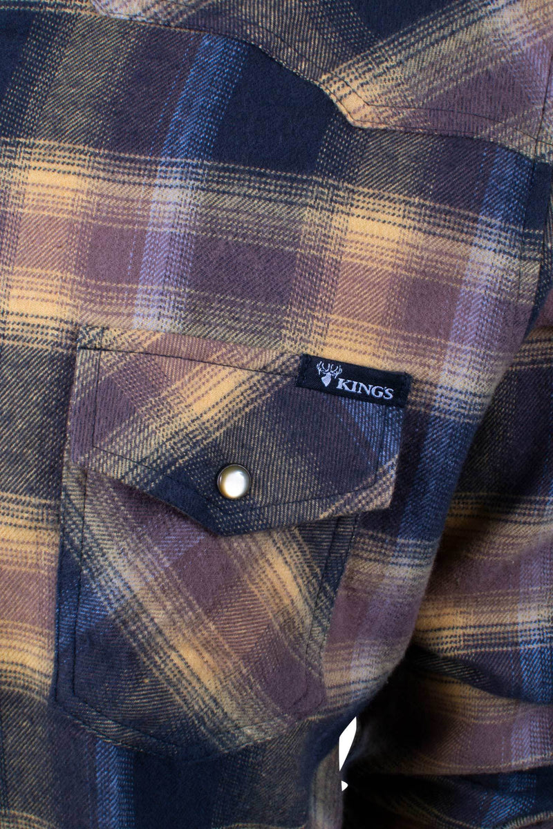 King's Red/Graphite Flannel | King's Camo