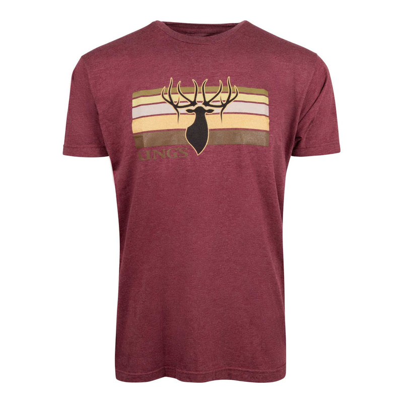 Stripe Tee in Heather Burgundy | King's Camo