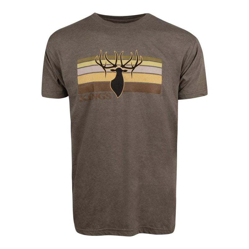 Stripe Tee in Heather Olive | King's Camo