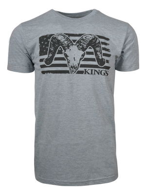 USA Ram Tee in Heather Grey | King's Camo