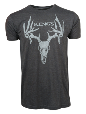 Droptine Tee in Heather Charcoal | King's Camo
