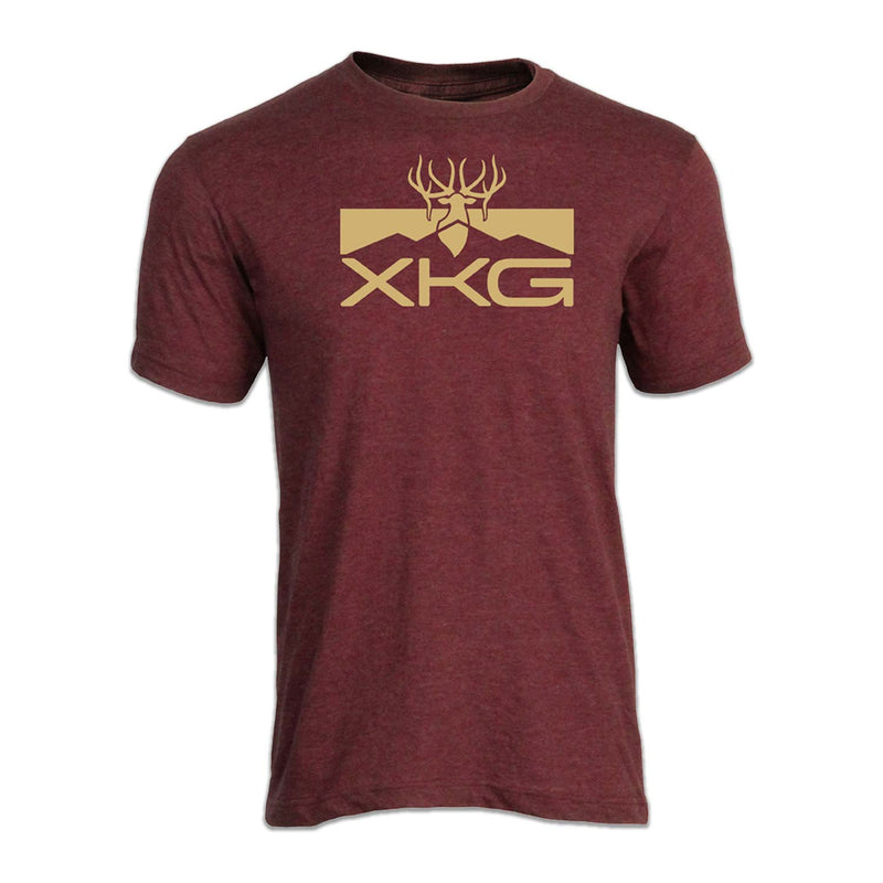 XKG Performance Tee in Heather Burgundy | King's Camo