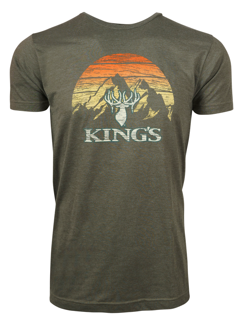 Sunset Tee in Heather Military Green | King's Camo