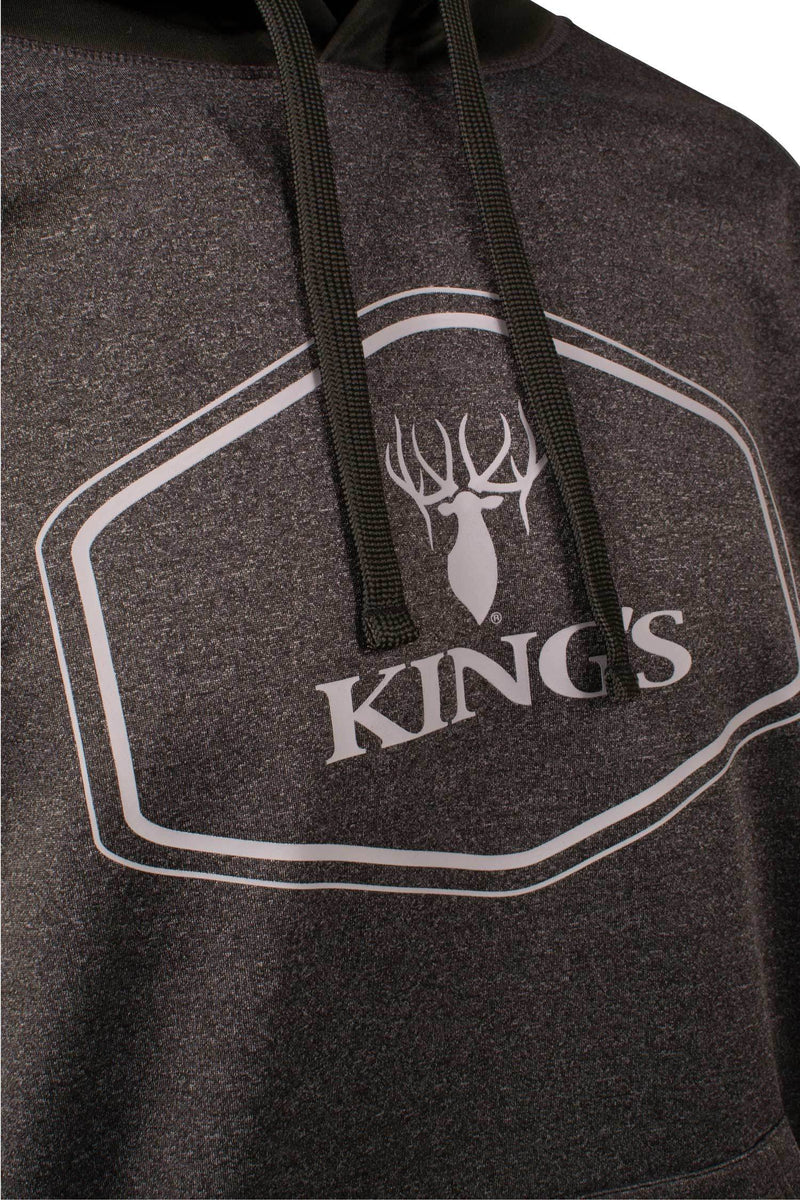 King's Logo Poly Hoodie in Black | King's Camo