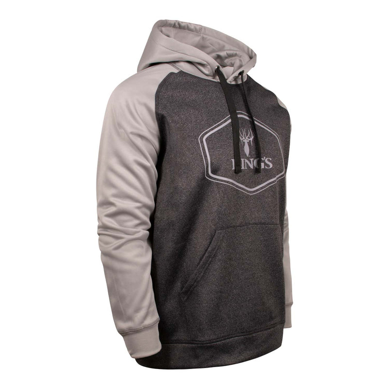 King's Lifestyle Poly Hoodie in Light Grey | King's Camo
