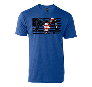 USA Ram Tee in Heather Royal Blue | King's Camo