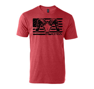 USA Ram Tee in Heather Red | King's Camo
