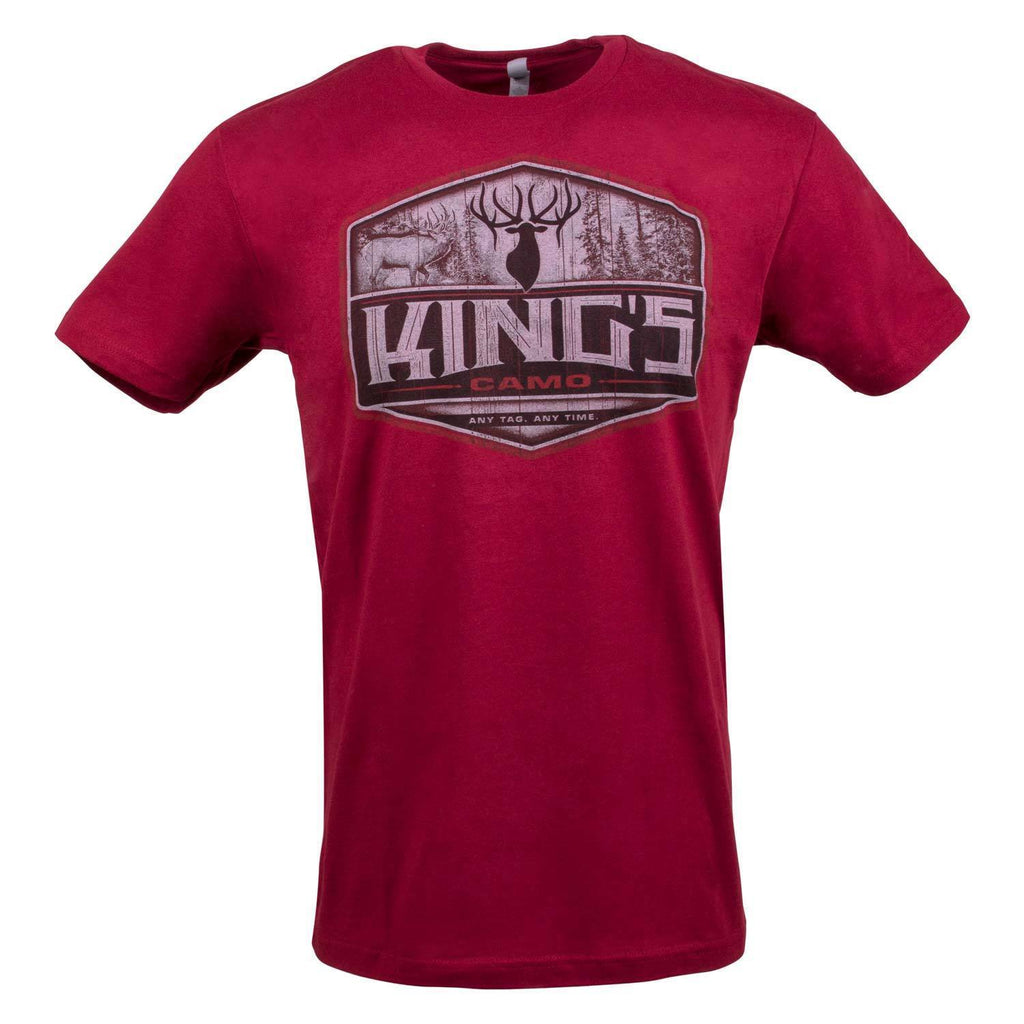 Elk Woods Tee Red | King's Camo