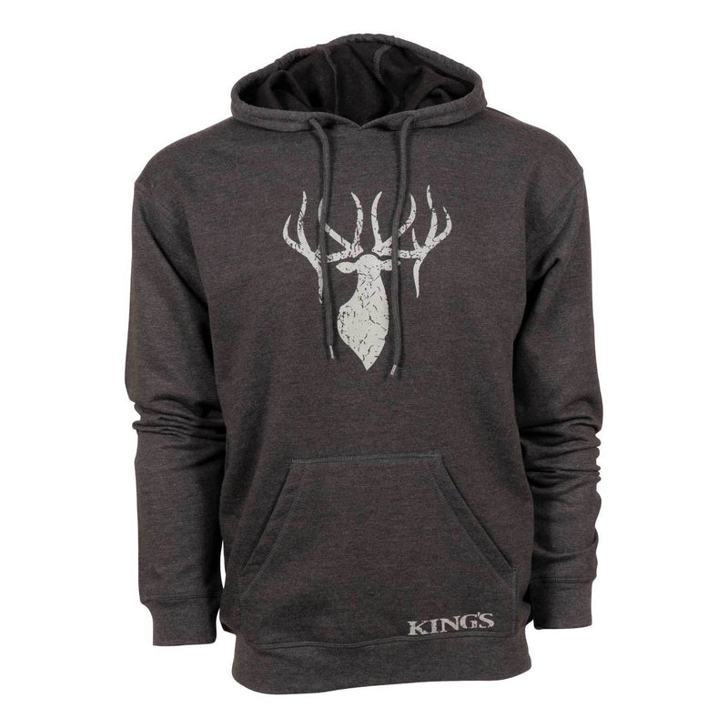 King's Triblend Fleece Hoodie in Dark Heather Grey | King's Camo