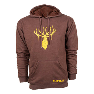 King's Triblend Fleece Hoodie in Heather Brown | King's Camo