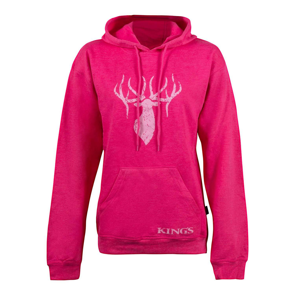 Women's King's Triblend Fleece Hoodie in Fuchsia | King's Camo