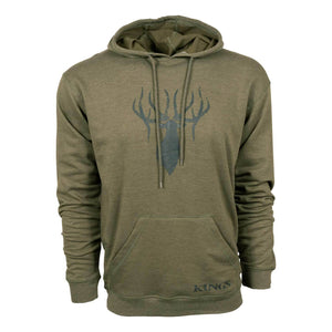 King's Triblend Fleece Hoodie in Heather Olive | King's Camo