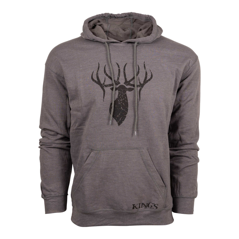 Triblend Hoodie in Grey/Black | King's Camo