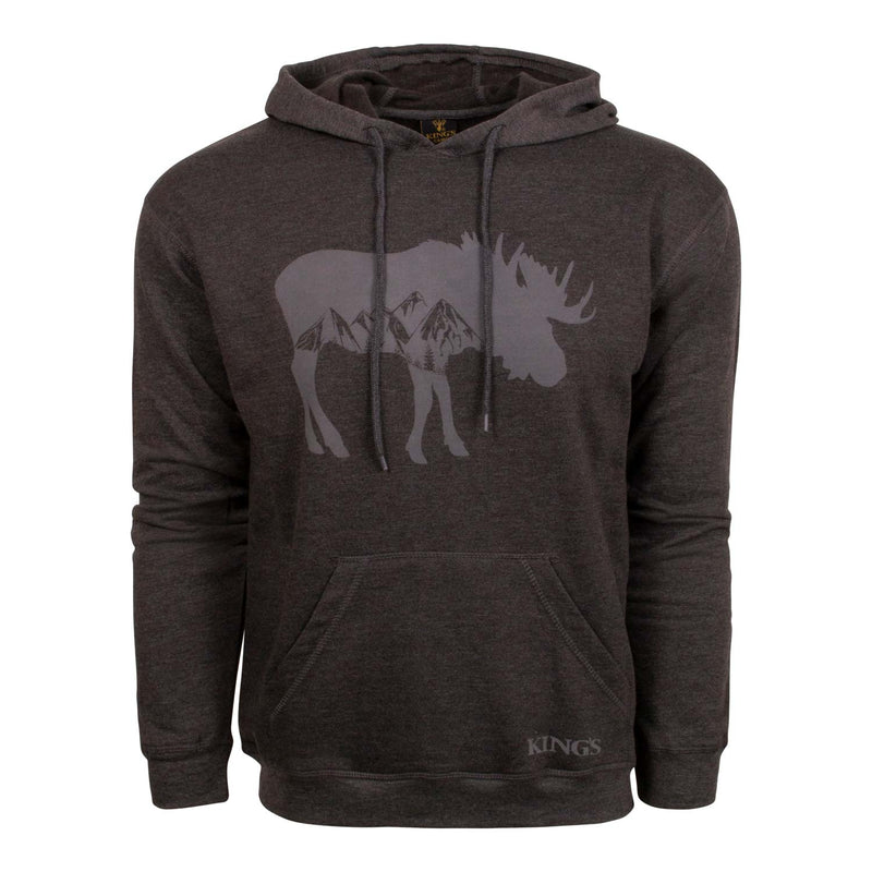 Triblend Moose Hoodie in Dark Heathered Grey | King's Camo