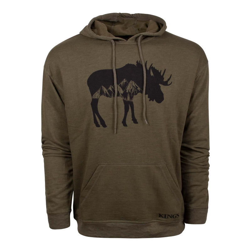 Triblend Moose Hoodie in Heathered Olive | King's Camo