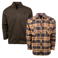 King's Logo Sweater and King's Gold Logo Flannel | King's Camo