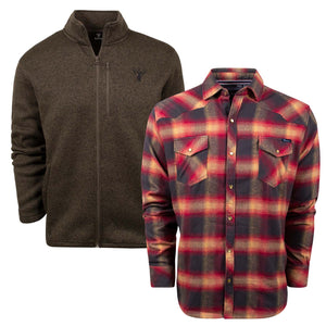 King's Logo Sweater and King's Red Logo Flannel | King's Camo