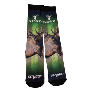 King's Bull Elk Graphic Socks | King's Camo