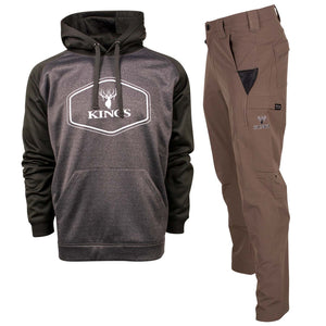 Black Performance Hoodie and Dark Khaki XKG Ridge Pant | King's Camo