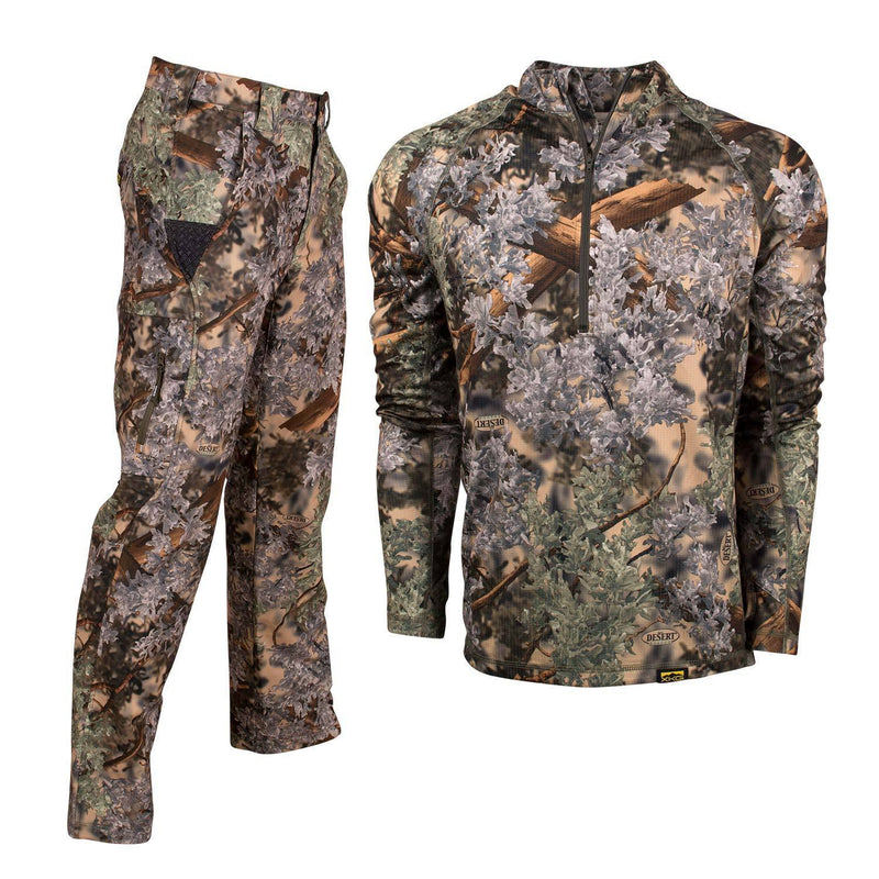 XKG Lightweight Bundle in Desert Shadow Medium 1/4 Zip | King's Camo