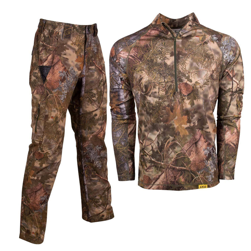 XKG Lightweight Bundle in Mountain Shadow Medium 1/4 Zip | King's Camo