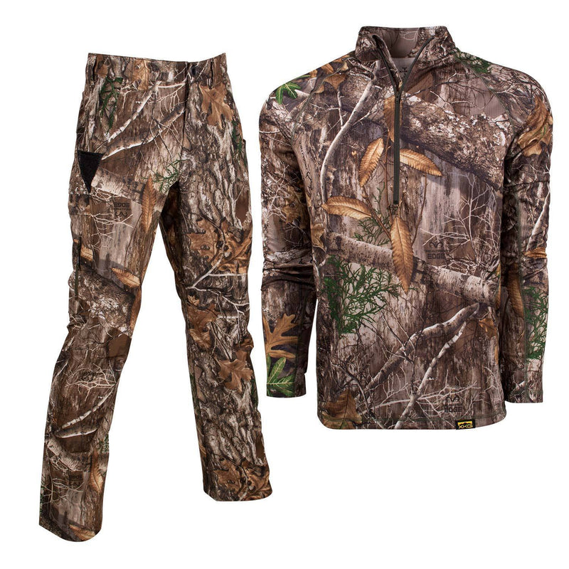 XKG Lightweight Bundle in Realtree Edge Medium 1/4 Zip | King's Camo