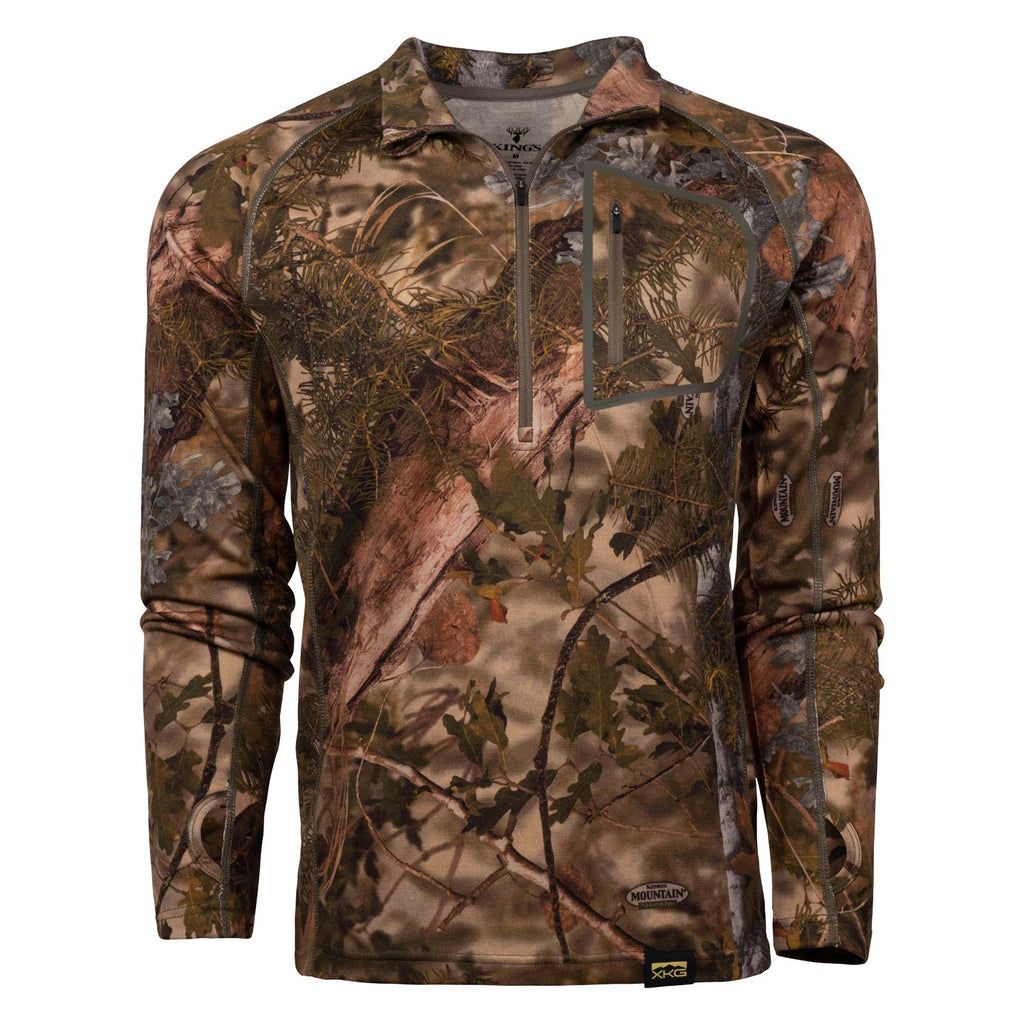 XKG Foundation 260 Merino 1/4 Zip in Mountain Shadow | King's Camo