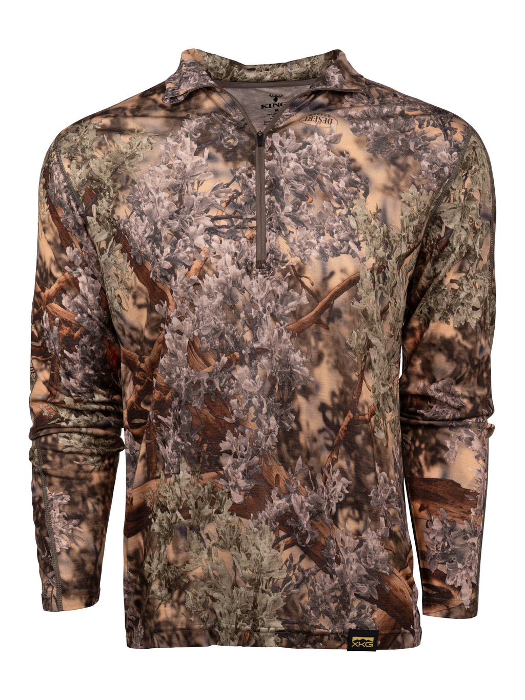 XKG Foundation 150 Merino 1/4 Zip in Desert Shadow | King's Camo