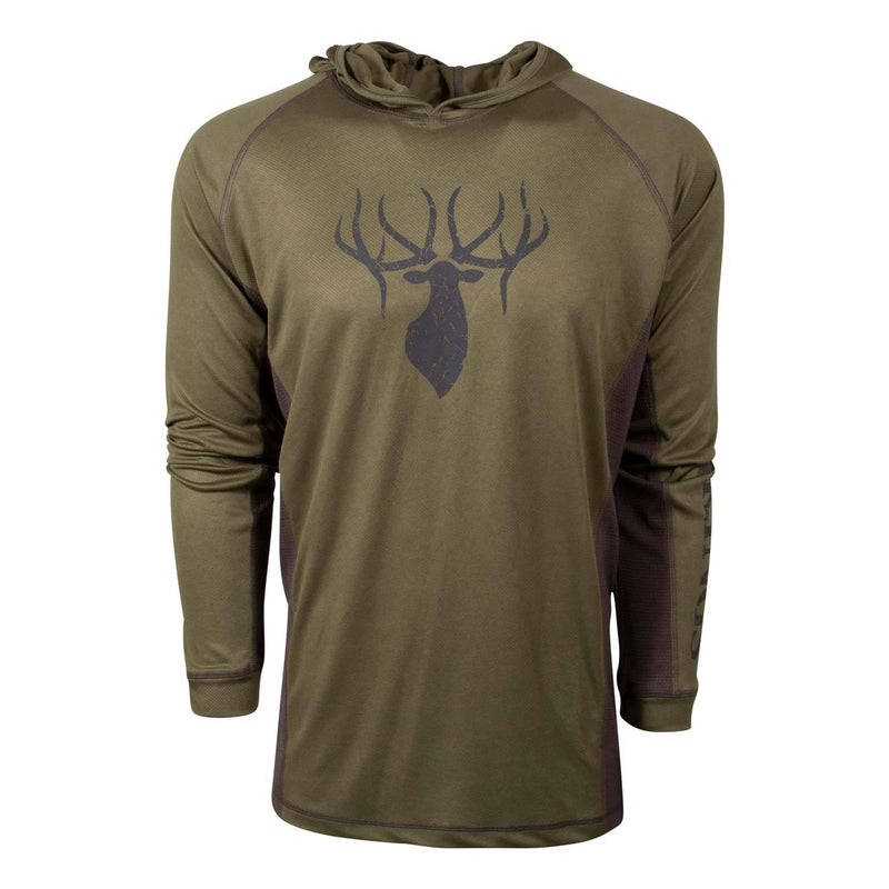 Performance Logo Hoodie Tee in Olive | King's Camo