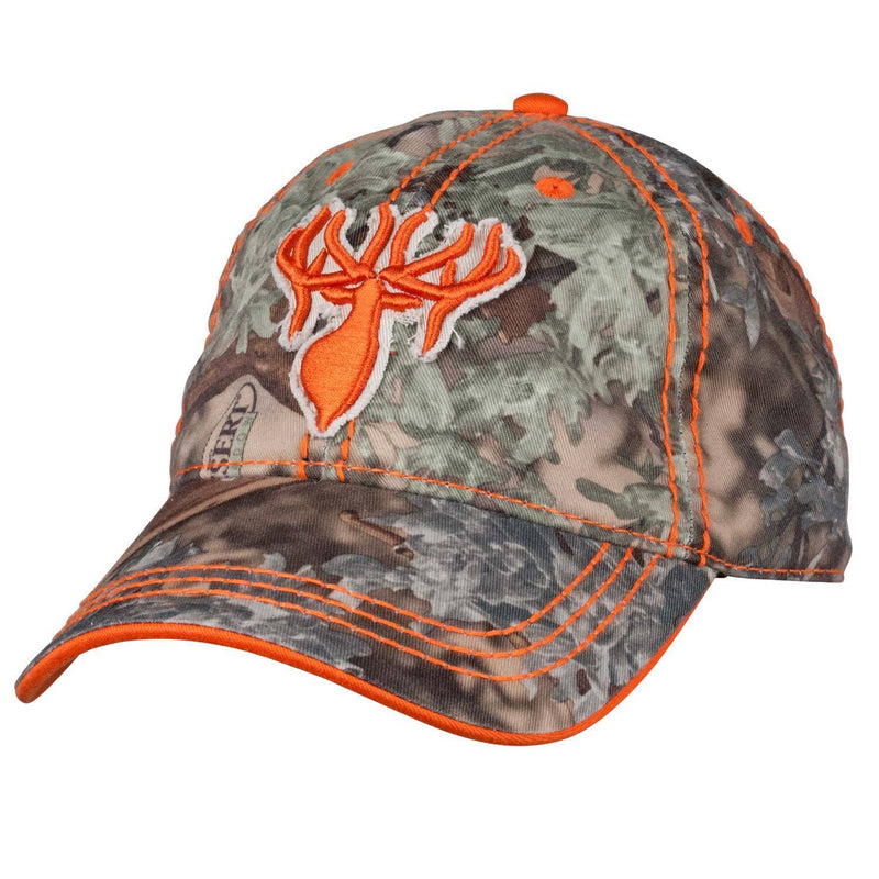 King's Distressed Logo Cap in Orange | King's Camo