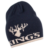 King's Logo Knit Beanie Navy | King's Camo