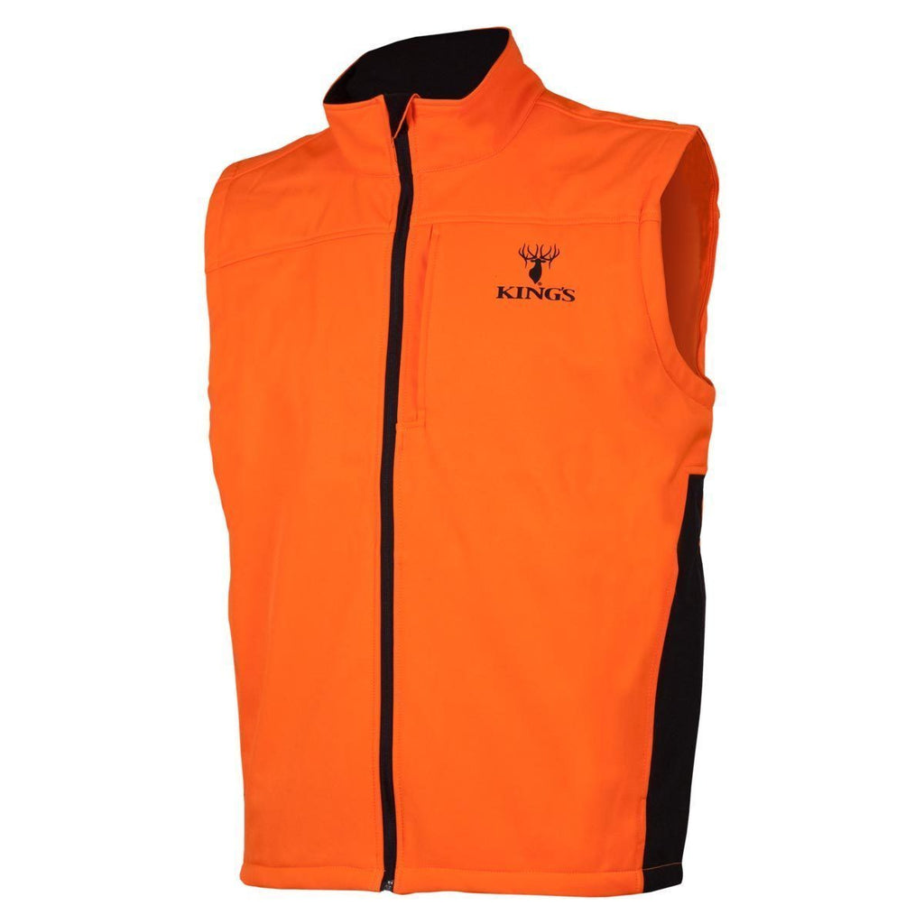 Blaze Orange Soft Shell Vest Blaze Orange | King's Camo