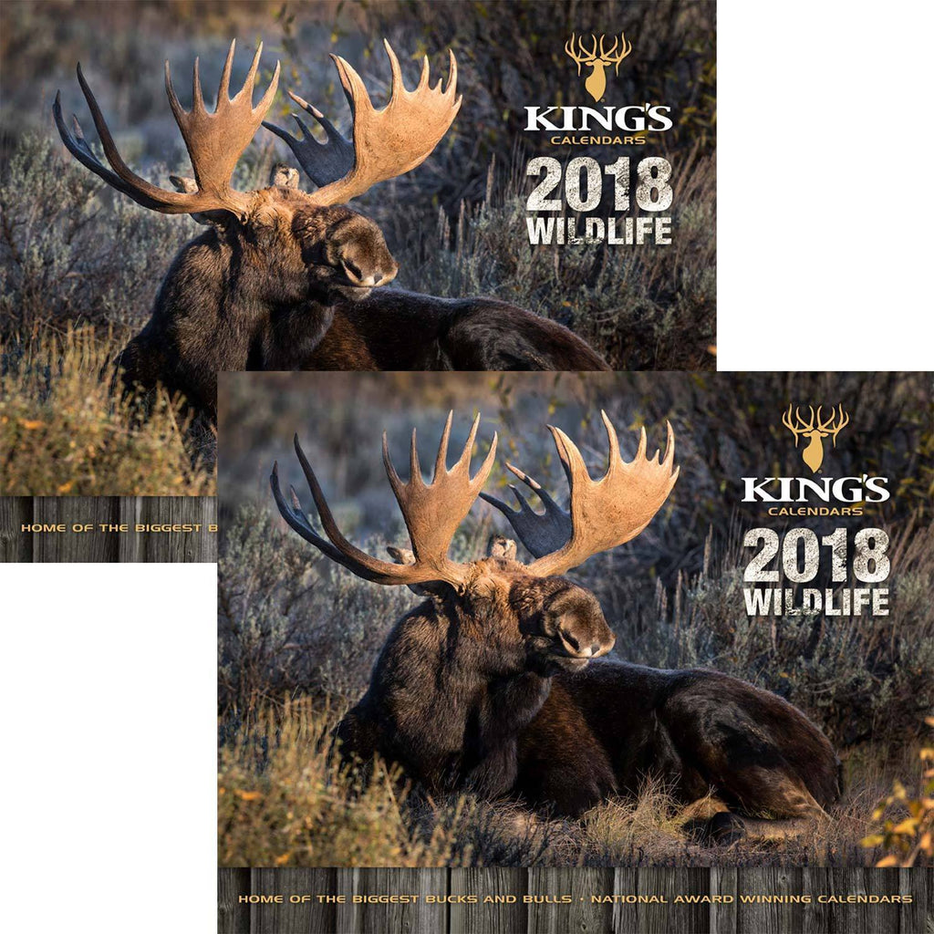 2018 King's Wildlife Calendar TWIN Pack