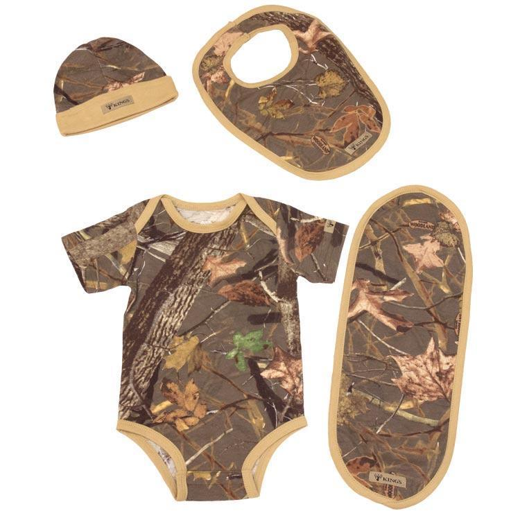 Infant Bodysuit Set in Woodland Shadow 0/3 Months | King's Camo