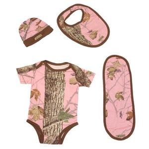 Infant Bodysuit Set in Woodland Pink 0/3 Months | King's Camo