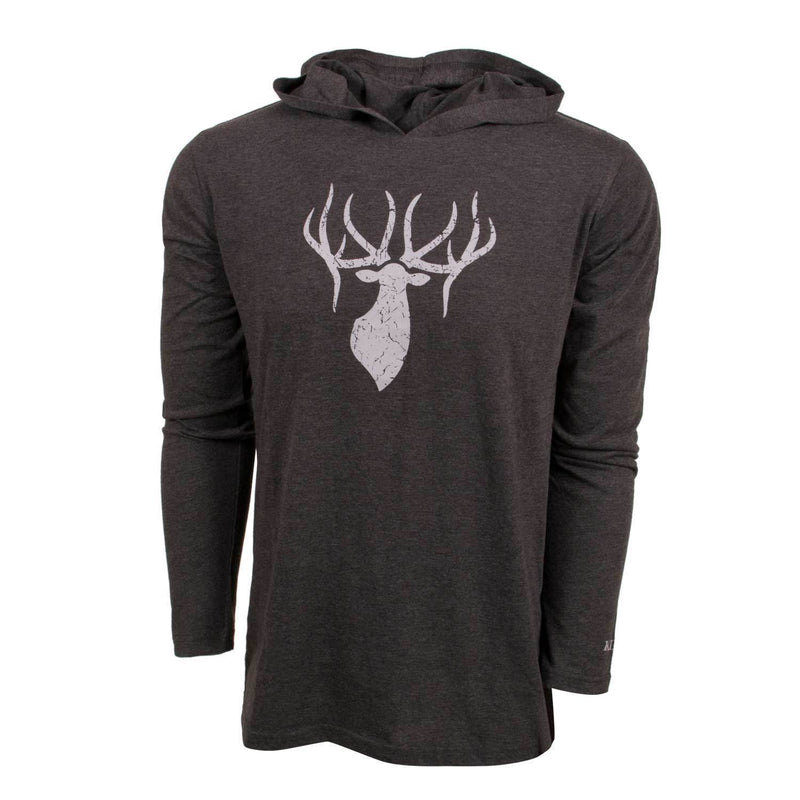 King's Triblend Hooded Tee Heathered Grey | King's Camo