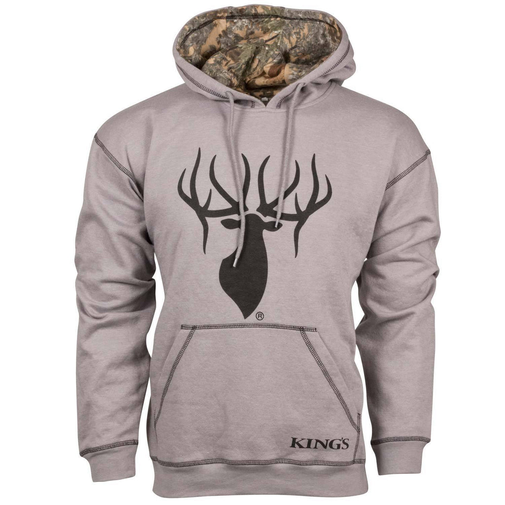 King's Cool Grey Logo Hoodie Grey | King's Camo