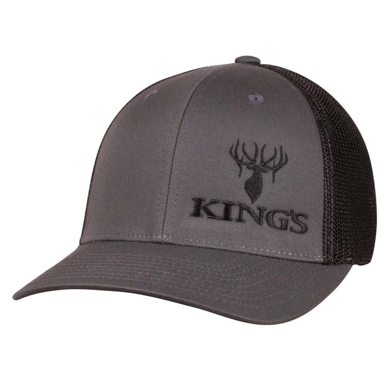 King's Flexfit Mesh Cap Charcoal/Black | King's Camo