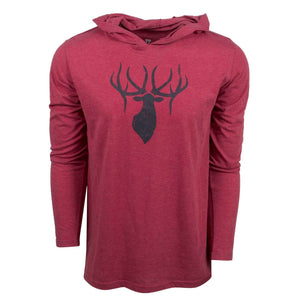 King's Triblend Hooded Tee Heathered Red | King's Camo