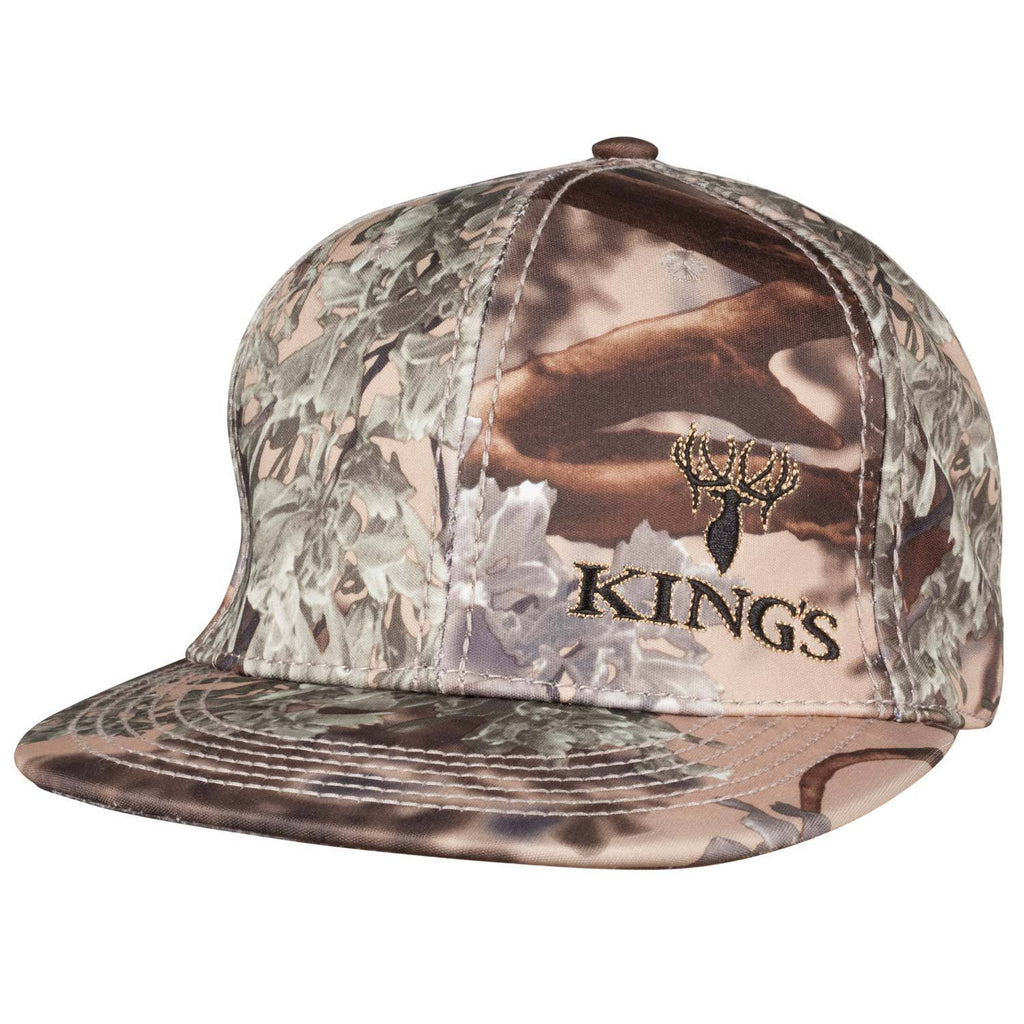 Flat Bill Snapback Hat in Desert Shadow® Logo Embroidery | King's Camo
