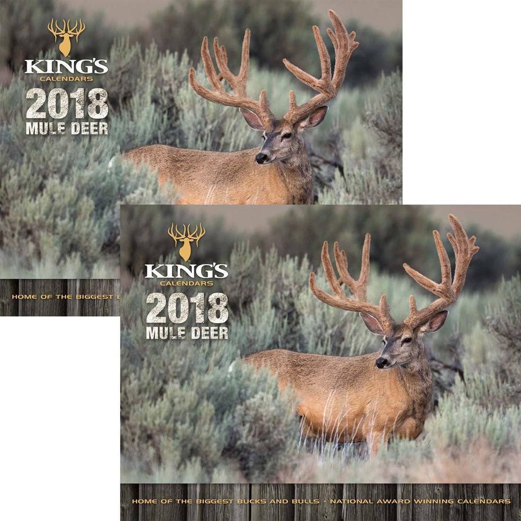 2018 King's Mule Deer Calendar TWIN Pack