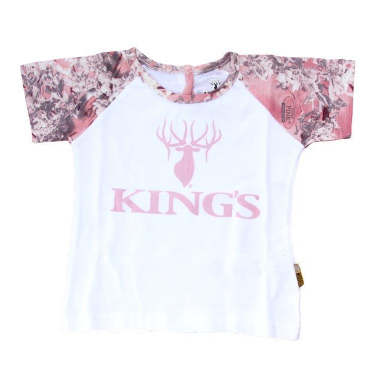 Infant Toddler Short Sleeve Tee Pink Camo Trim