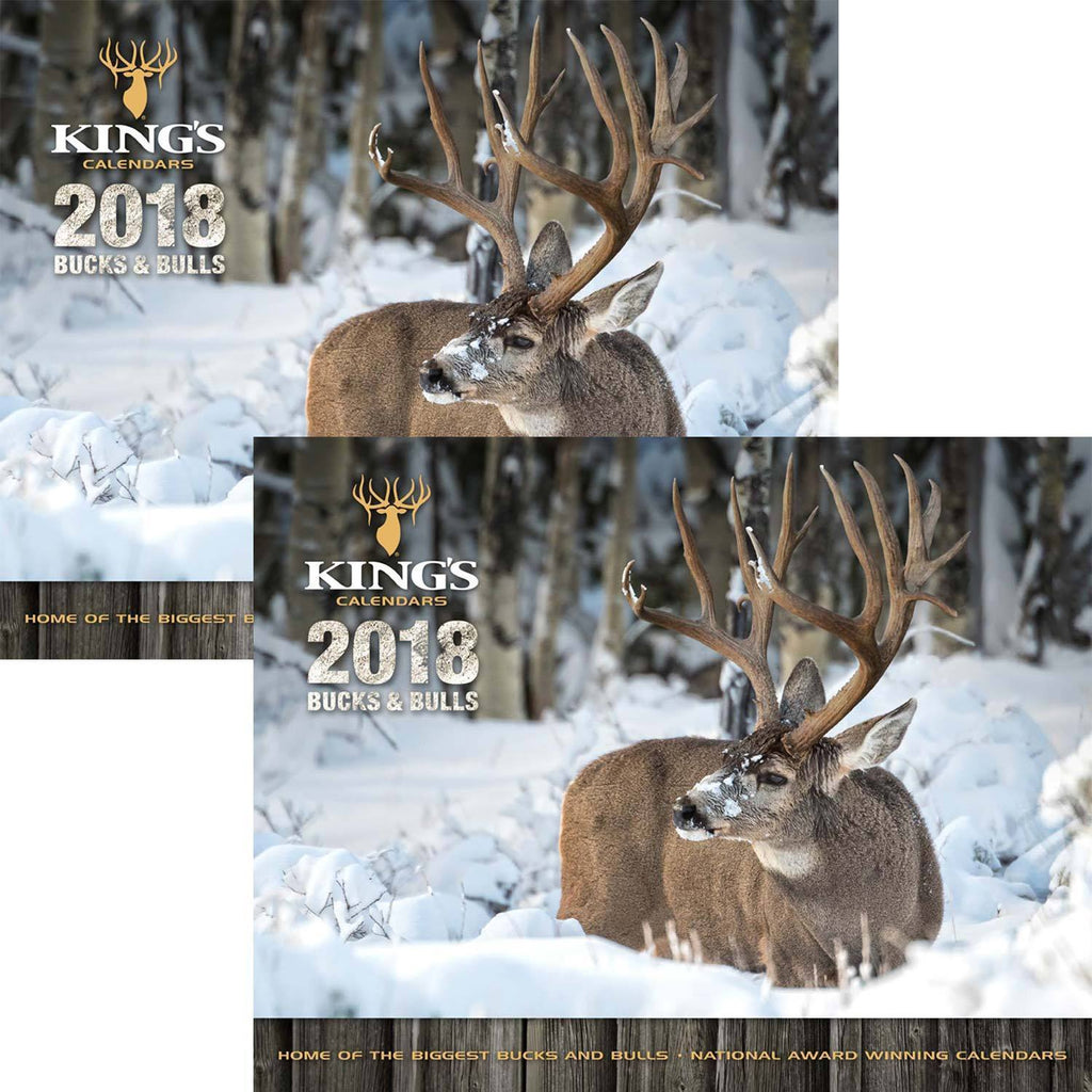 2018 King's Bucks & Bulls Calendar TWIN Pack
