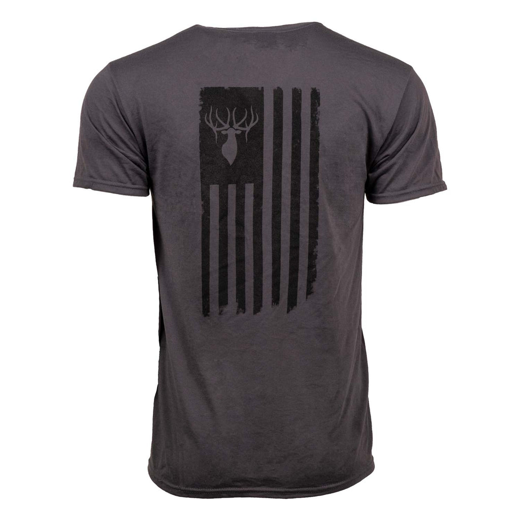 USA Flag Tee Charcoal | King's Camo