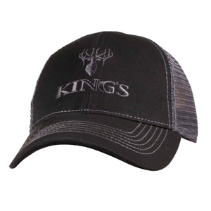 King's Logo Mesh Back Cap Black | King's Camo