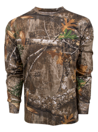Classic Cotton Long Sleeve Tee in Realtree Edge | King's Camo