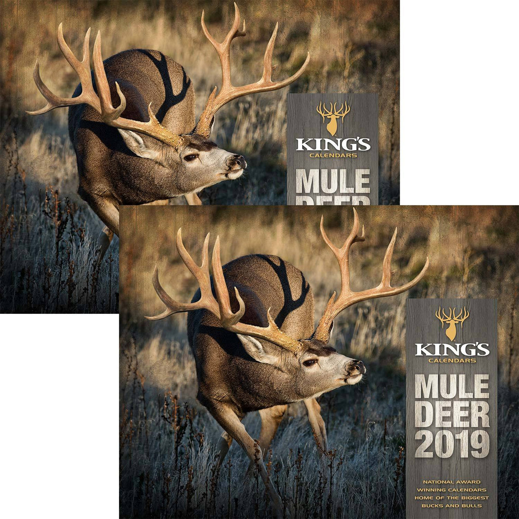 2019 King's Mule Deer Calendar TWIN Pack | King's Camo