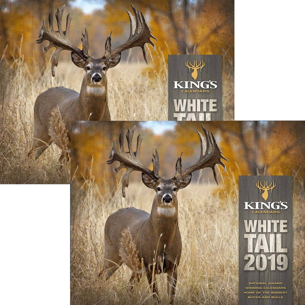 2019 King's Whitetail Calendar TWIN Pack | King's Camo